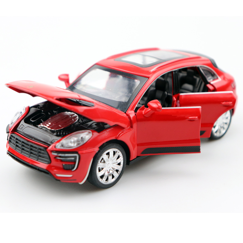 1:32 Scale Macan Cayenne Diecast Alloy Metal Car Model Pull Back Car For Children Toys With Collection Free Shipping