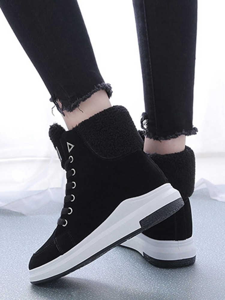 Kış ayak bileği çizmeler kadın ayakkabıları 2019 sıcak peluş kar botas martin çizmeler kadın kare topuklu kış ayakkabı kadın botines mujer NV147