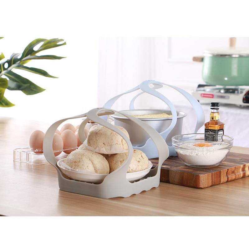 Portable Nonstick Silicone Roasting Roast Pork Fish Rack Trivet Cooking Steamer TB Sale