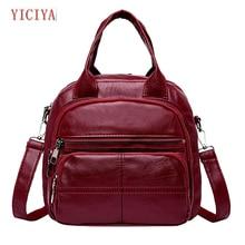 YICIYA Backpack female small backpacks Leisure Fashion Solid Large Capacity Totes Backpacks  G0520#10