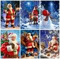 HUACAN Алмазная мозаика рождественские Санта Клаус Алмазная картина полностью квадратная вышивка крестиком украшения для дома