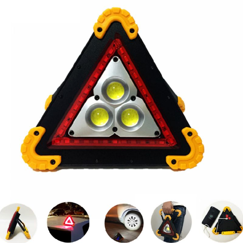 <font><b>Car</b></font> Warning <font><b>Light</b></font> Triangle Bright Taillight Waterproof Sign Lamp for Outdoor G8TB image