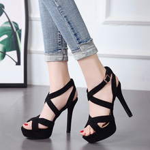 strappy block heels high woman sandals 2020 summer shoes wedding sandals office women shoes high heel women sexy heels LJB14 newest hot summer tassel fringe suede leather ankle strappy cover heel back zipper women sandals party high heels shoes woman