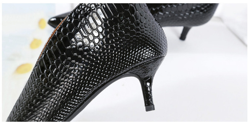 Snake Patent Leather Stilettos Pumps Women Shoes Tip Head V Mouth High Heels Women Shoes 2020 Spring Small Thin Heel Lady Pumps (3)