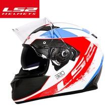 Capacete LS2 ff328 אופנוע קסדת ls2 מלא פנים כפולה עדשת קסדות ללא כרית אוויר קסדה moto