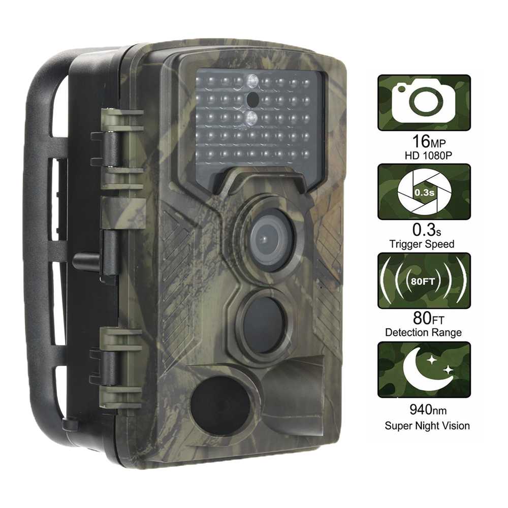 16MP 1080P Wildlife Hunting Camera Photo Traps Wireless Trail Surveillance Cameras Night VisionTracking Cam HC800A|Hunting Cameras| |  - title=
