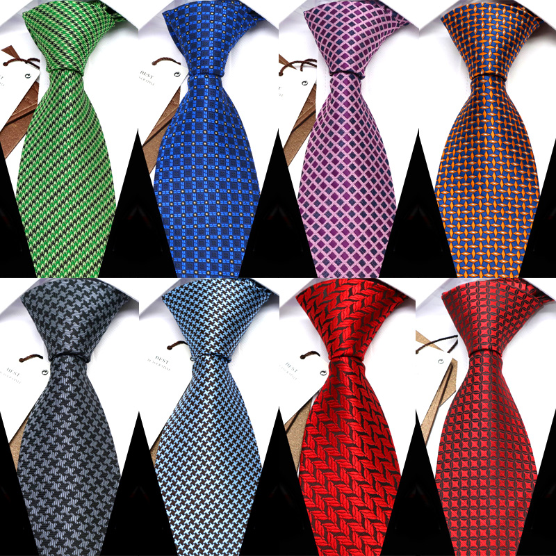 YISHLINE 8CM  Men Tie Fashion Classic Business Necktie Mens Casual Ties Wedding Party Designer Corbatas Para Hombre Gift Ties