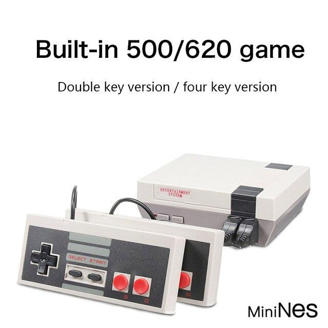 Mini TV Handheld Family Recreation Video Game Console AV Port Retro Built-in 620 Classic Games Dual Gamepad Gaming Player 1