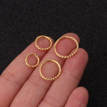 New Stainless Steel Hoop Earrings For Women Girls Round Earring Gold Silver Color 6mm/8mm/10mm/12mm