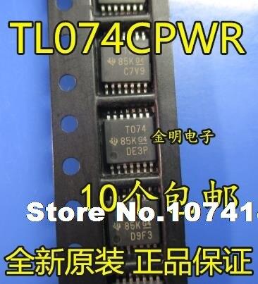 10pcs/lot  TL074CPWR T074 TSSOP-14