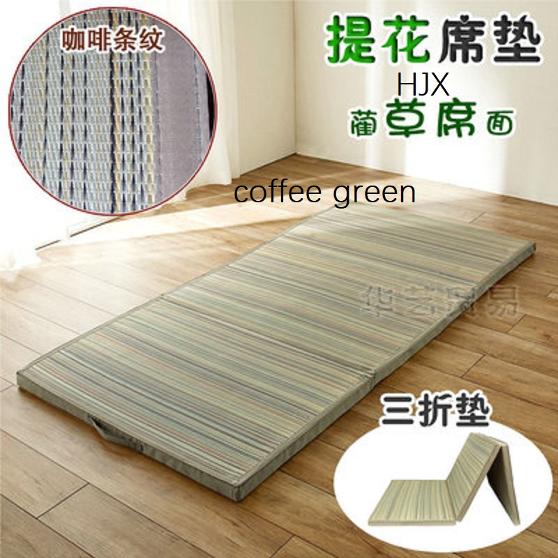 Straw Mat Fabric Folding Comfortable Tatami Mattress Rectangle Large Foldable Floor Straw Mat For Sleeping Tatami Mat Flooring
