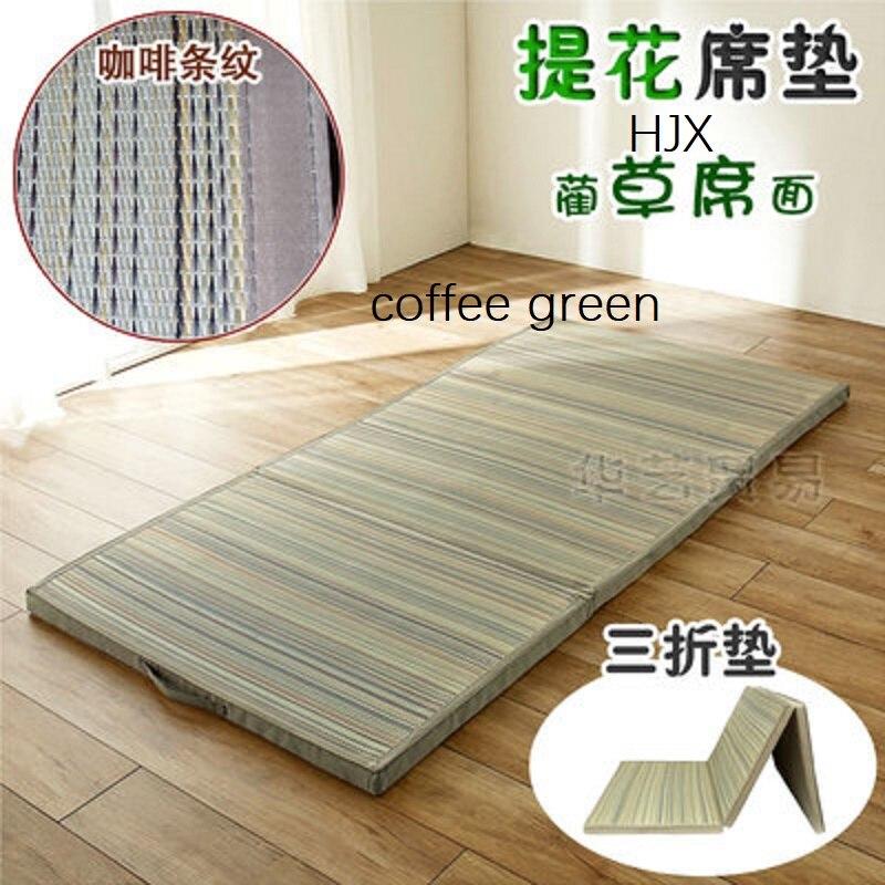 Straw Mat Fabric Folding Comfortable Tatami Mattress Rectangle Large Foldable Floor Straw Mat For Sleeping Tatami Mat Flooring