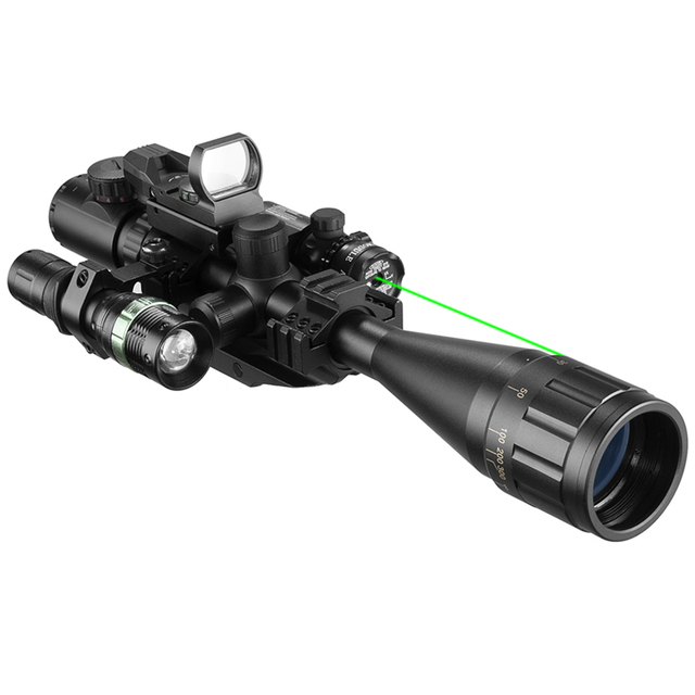 6-24X50 Aoeg Optical Sight Red Dot Holographic Green Laser Tactical Combination Rifle Scope Crossbow Hunting 3