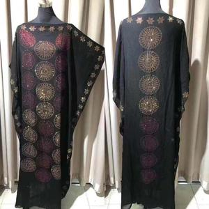 Image 2 - שמלת אורך: 140cm חזה: 160 חדשה אופנה שמלות Bazin הדפסת דאשיקי נשים ארוך/גדל Yomadou צבע דפוס גדול