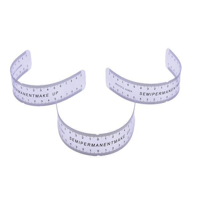1PCS Reusable Semi Permanent Eyebrow Ruler Eye Brow Measure Tool Eyebrow Guide Ruler Microblading Stencil Makeup Tools 4