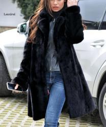 Сезон осень-зима; новая норковая шуба имитация пальто с мехом длинная теплая зимняя ветровка Европа и США код S-4XL