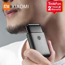 New XIAOMI MIJIA Portable Electric Shaver MSW201 for men Smart Mini Razor IPX7 waterproof Wet beard trimmer Mens Comfy Clean
