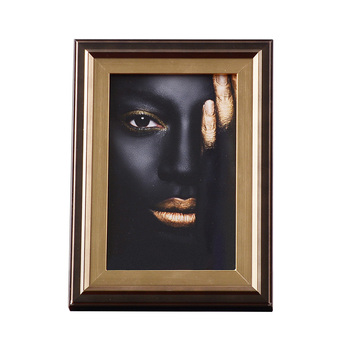 Nordic African Beauty Black Gold Photo Frame Miniature Figurine Home Decoration Accessories Living Room Decor Wedding Gifts