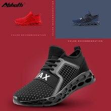 Abhoth Men Shoes Mesh Breathable Non-slip Hollow Elastic Rubber Sole Sneakers Men Size 48 Mens Casual Shoes Zapatillas Hombre