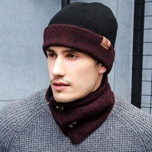 Ensemble bonnet hiver bonnet et écharpe Infinity   Gants à écran tactile, tricot 3 pièces, ensemble de chapeaux en tricot pour hiver, bonnet chaud + écharpe + gants