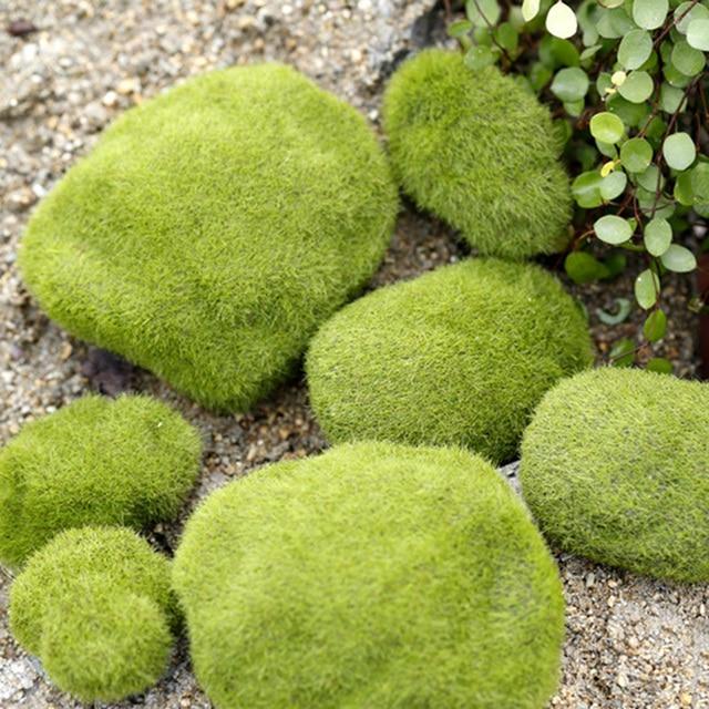 시뮬레이션 이끼 거짓 녹색 돌 바위 이끼 공장 미니어처 사진 촬영 배경 장식품 사진 스튜디오 액세서리