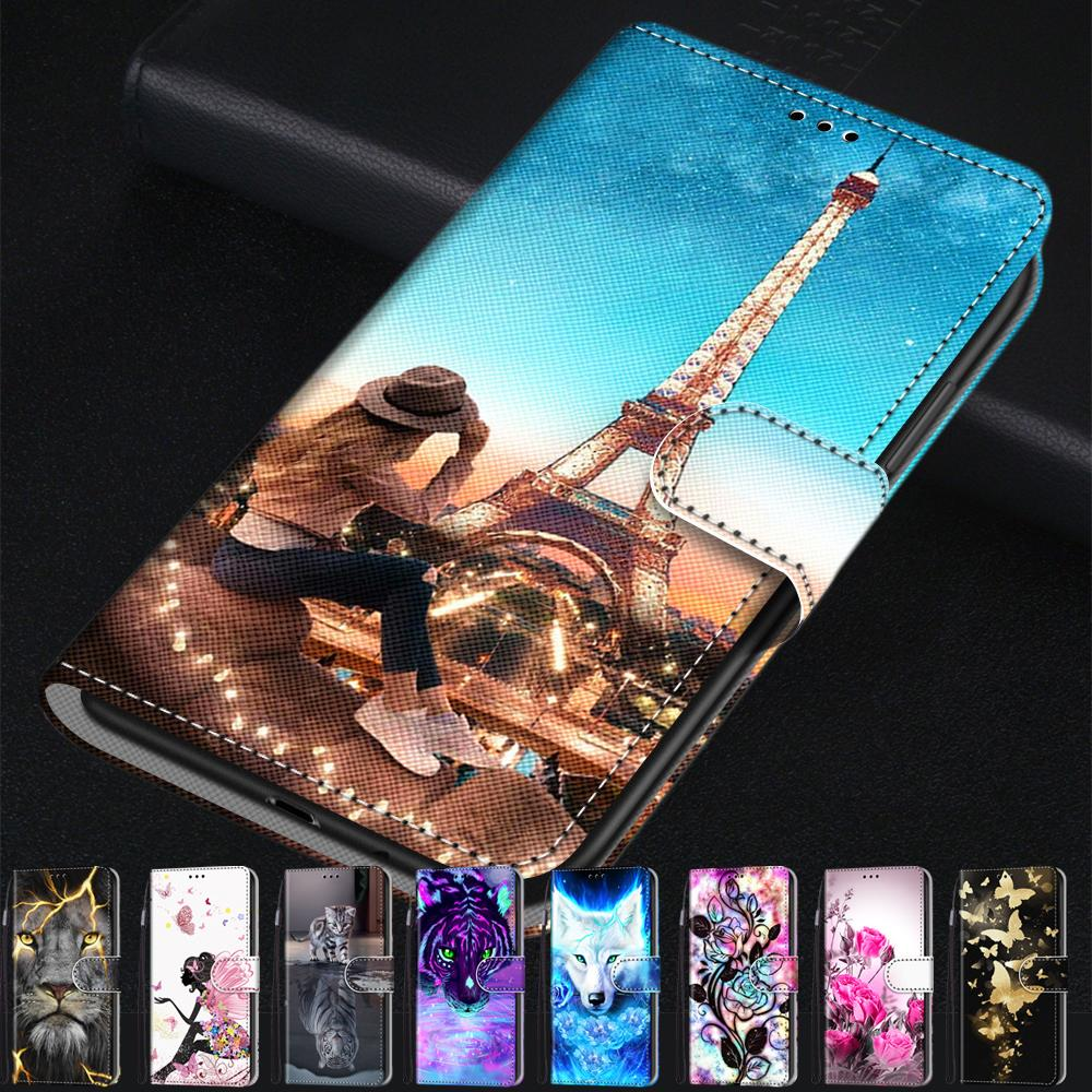 Cute Cartoon Coque Card Wallet Flip Phone <font><b>Cases</b></font> For <font><b>Huawei</b></font> Honor Play 5 Cover Honor 7A 5.7inch Pro <font><b>Y5</b></font> II Y5II Y6 Prime <font><b>2018</b></font> <font><b>Case</b></font> image