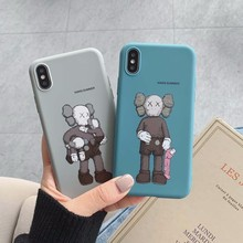 Soft Silicone Phone Case For IPhone 7 8 Plus X XS 6 6S Cute Cartoon Fun Tide Brand Cover