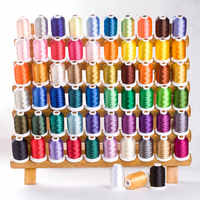60 colors Simthread Sewing Thread Computer Embroidery Thread Polyester Ice Silk Pagoda Line Sewing Machine Thread Supplies 130g