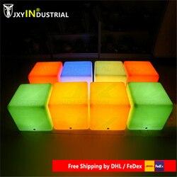 LED مكعب ضوء بار البراز كرسي مضيئة قابلة للشحن اللاسلكي ديكور مع 16 ألوان التحكم عن بعد 20x20x20 سنتيمتر
