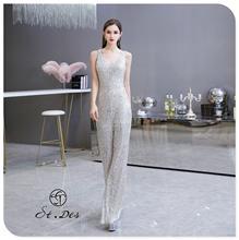 С. Т. де вечернее платье к 2020 году новые прибытия сиамские брюки V-образным вырезом Щепка черный без рукавов длина пола партии