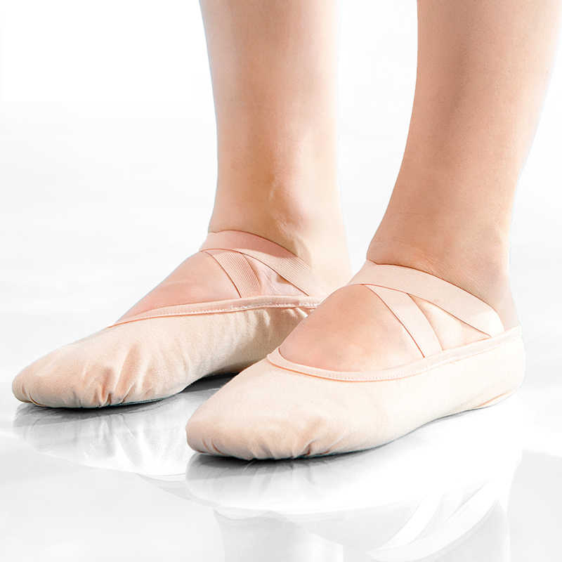 Cotton Black or White Ballet Shoes for Girls Women Toddlers and Kids Split Leather Soles 100/% Cotton Canvas Ballet Shoes