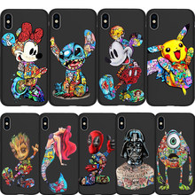Marvel Deadpool Stitch Joker Groot DIY teléfono personalizada caso para iPhone11 Pro 7 7 6 6S Plus 5 5S SE XS MAX XR Coque estuche de protección(China)