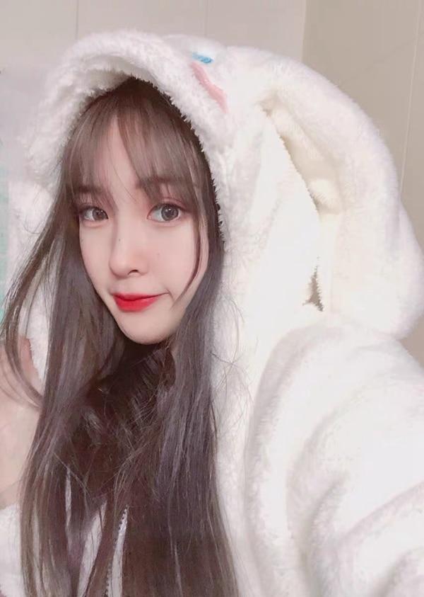 1set Cosplay Cinnamoroll Sweatshirt Two Piece Pajama Coral Fleece Thick Warm Winter Women Cartoon Kawaii White Hoodies Trousers 4