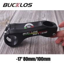 Bucklos haste da bicicleta 17 graus 80/100mm guiador haste 31.8mm liga de alumínio bicicleta potencia estrada mtb acessórios
