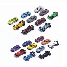10Pcs/Set Diecast Scale 1:64 Alloy Toy Car Model Metal Sliding Formula1 Racing Sport F1 Vehicle Model With Road Sign kids Toys new arrival gift pnmr 1 18 large metal model car sport drive model scale alloy collection vehicle toys car pro fans show