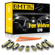 BMTxms For Volvo C70 873 542 Convertible 1998-2013 Canbus No Error Vehicle LED Interior Light Bulbs Car Lighting Accessories