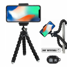 Suporte do telefone móvel flexível polvo tripé suporte para câmera do telefone móvel selfie monopé suporte foto controle remoto