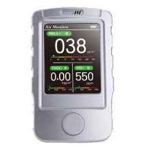 Portable Air Quality Monitor pm2.5 CO2 5 in 1 Hand Held CO2 Sensor PM2.5 Particles TVOC Laser Gas Analyzer Detector Machine
