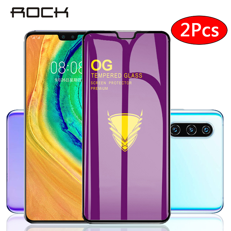 Rock 2pcs Tempered Glass Screen Protector Full Cover Z Film For Huawei P30 P20 Lite P Smart Plus For Huawei Mate 30 20 Lite