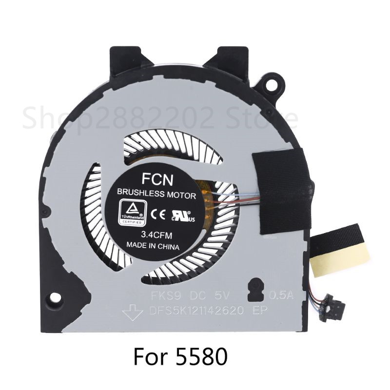 Laptop CPU Cooling Fan Cooler Replacement for Dell Inspiron 14 5480 5488 15 5580 5588 Vostro 15 5581 V5581 0G0D3G G0D3G