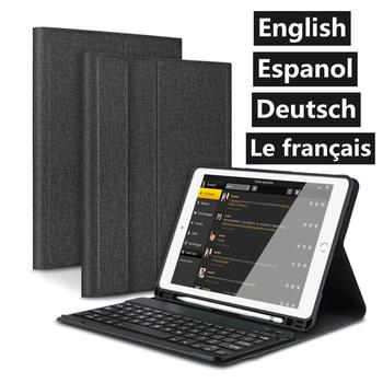 Folio Bluetooth Keyboard Case for iPad Pro 9.7 6th 5th Generation Smart 2018/2017 with Pencil Holder