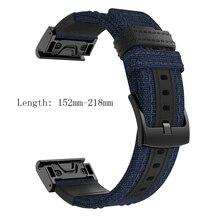 22 26 mm Quick fit band for Garmin Fenix 6X 5X 3 3HR 6 5 plus smart watch bracelet strap nylon belt Forerunner 935 945
