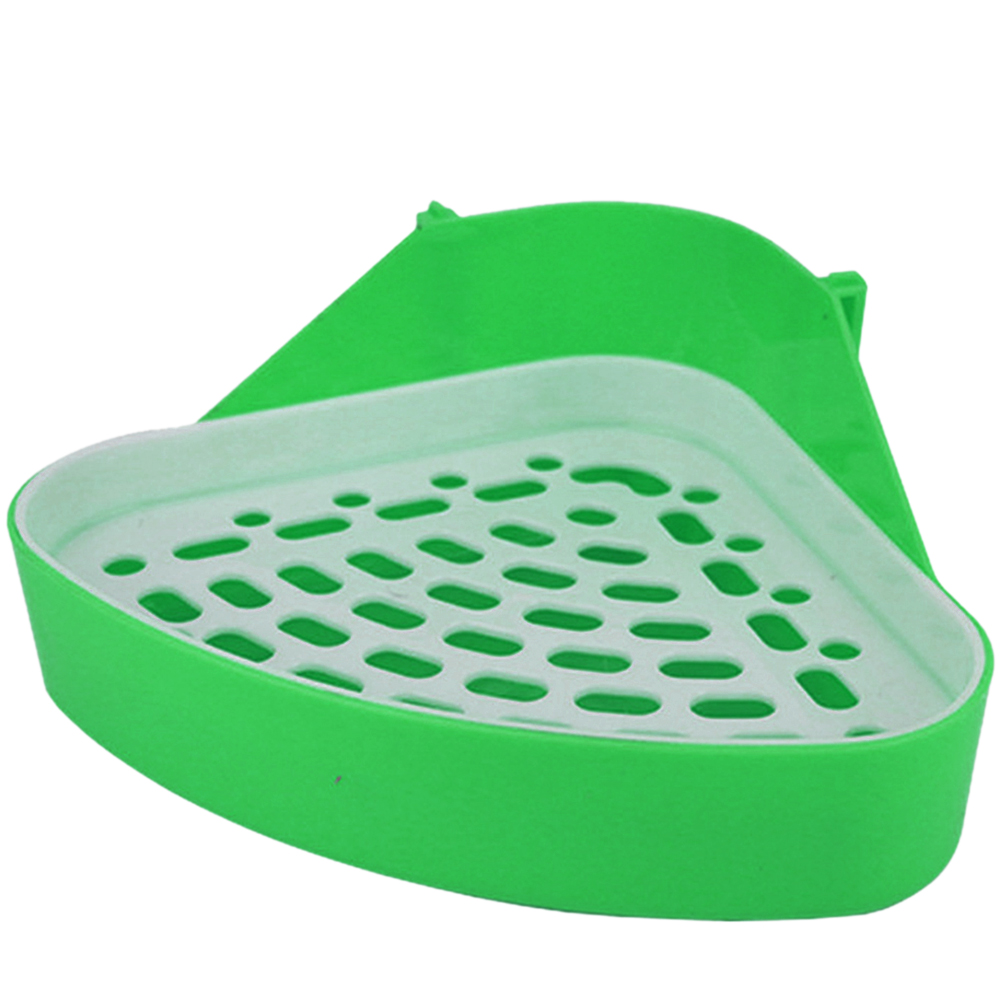 Pet Toilet Litter Tray Durable Easy Clean Hamster Small Animal Dog Corner Rabbit Saves Space Training Portable Triangle