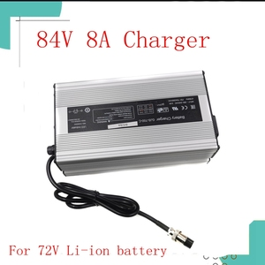Image 1 - 84V 8A lithium battery intelligent charger for 72V 20S electric bicycle electric motorcycle battery charger Li Ion 672 watts hig