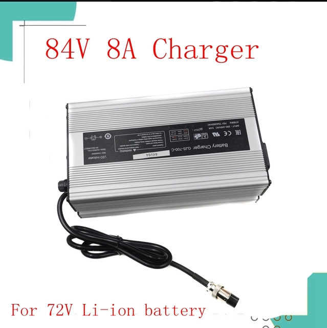 84V 8A lithium battery intelligent charger for 72V 20S electric bicycle electric motorcycle battery charger Li Ion 672 watts hig
