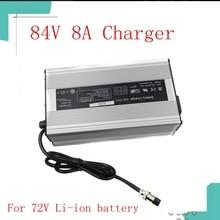 Carregador inteligente da bateria de lítio de 84v 8a para 72v 20s bicicleta elétrica carregador de bateria da motocicleta elétrica li ion 672 watts hig