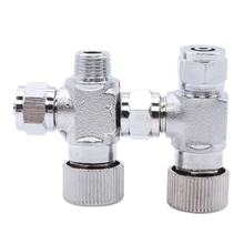Нержавеющая сталь Аквариум CO2 счетчик пузырьковый клапан-регулирующий рассеиватель одноступенчатый двухголовый водные продукты