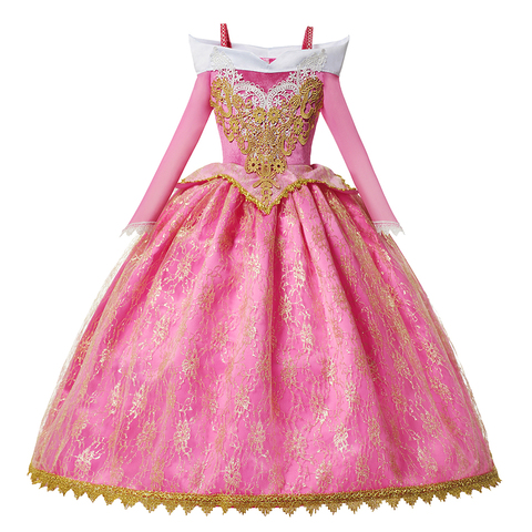 ano novo dormir beleza traje para a menina aurora vestido de princesa festa de natal