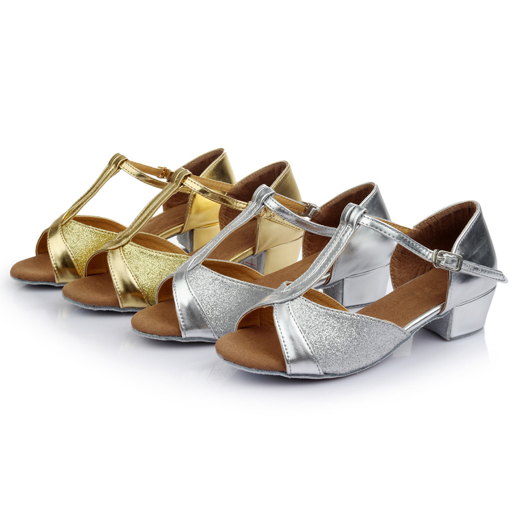 Children Kids Girls Princess Toddler Dancing Ballroom Tango Latin Shoes Sandals