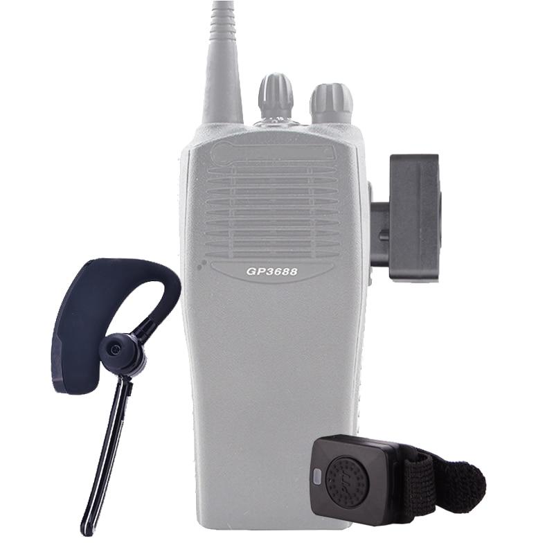 HUOSLOOG Walkie Talkie Wireless Headset M Plug Walkie Talkie Bluetooth Headset Two Way Radio Headphone Earphone For MOTOROLA